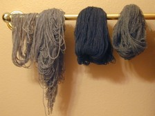 Wet_jaeger_yarn_hanging_dry