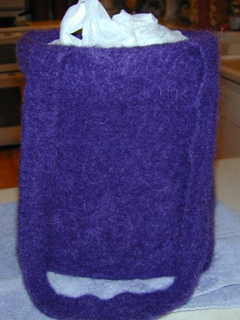 Purple Felted Tote